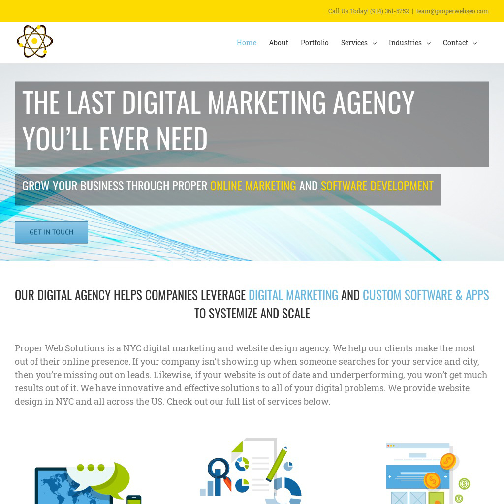 digital agency website and branding